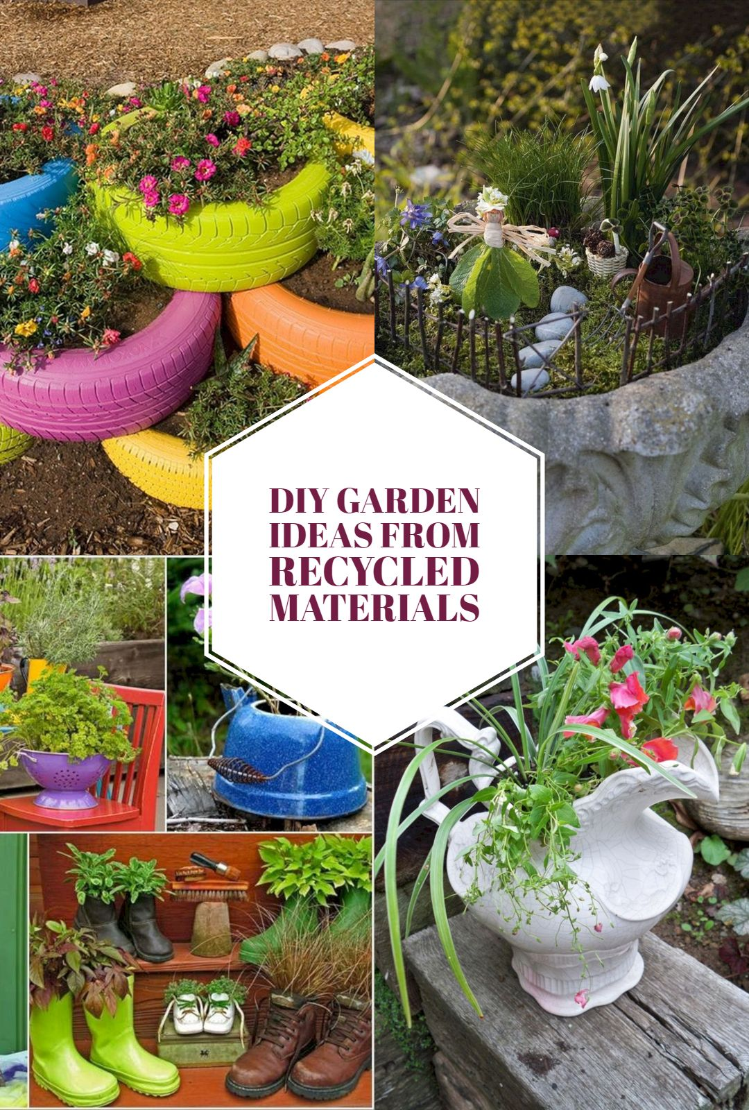 15 Wonderful Diy Garden Ideas From Recycled Materials Recycled