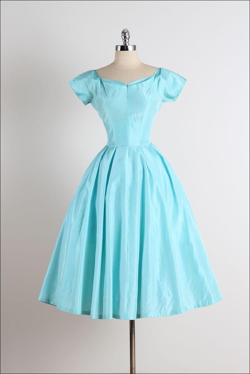 Date Bait . vintage 1950s dress . 50s party dress . 4786 | 1950s ...