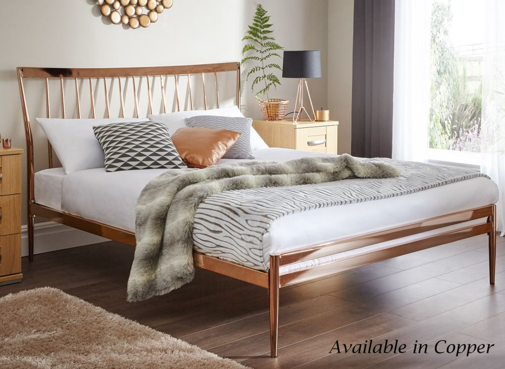 Blake Champagne Gold Metal Bed Frame