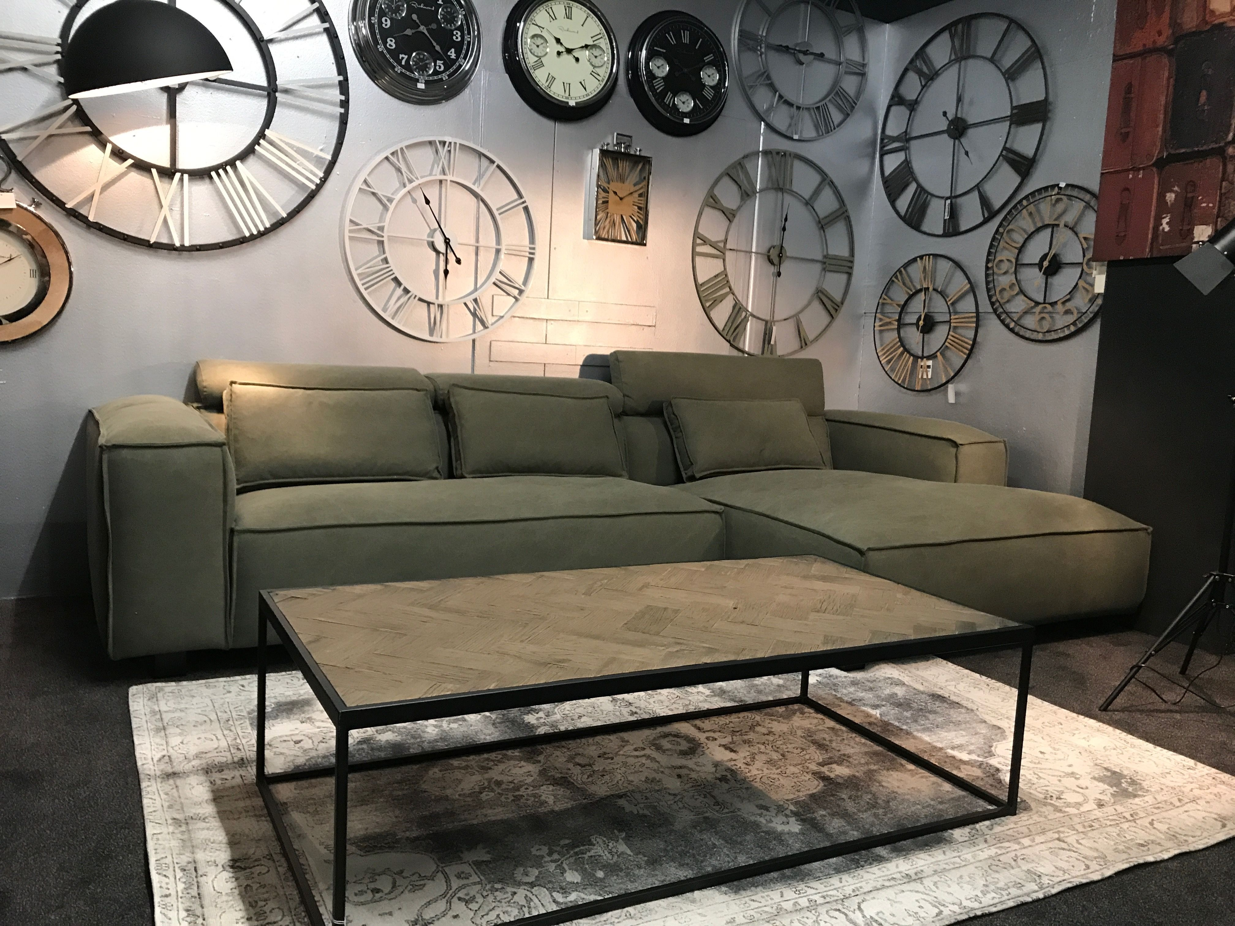 Easy Sofa Lounge Hoekbank Zena In Vintage Stof Olijf Groen Bij Mokana In Enschede Hoekbank Thuisdecoratie Thuis