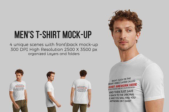 Download Men T Shirt Mock Up Mens Tshirts Mocking Mockup