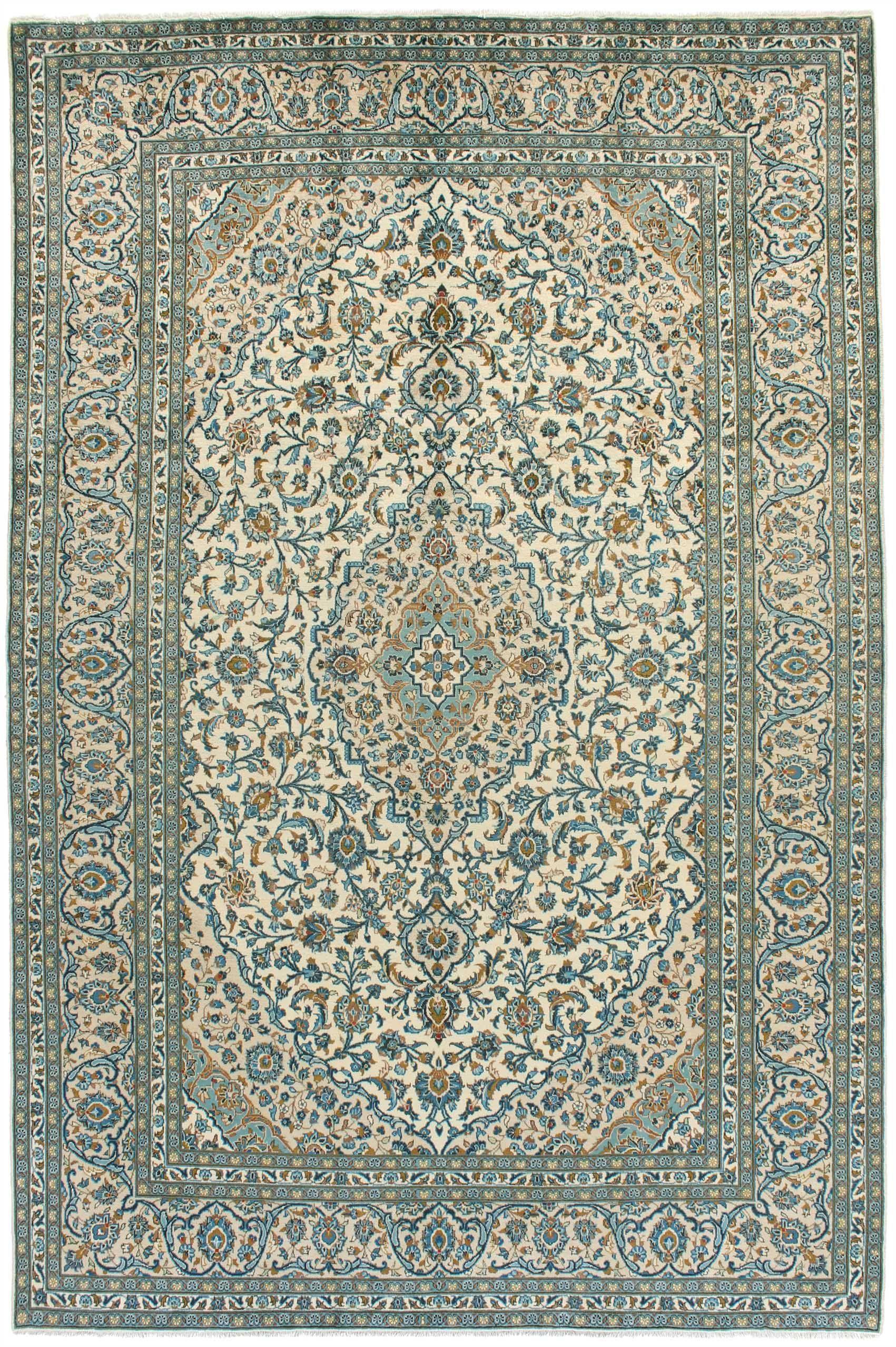 Keshan Teppich 372x246 Orientteppich Teppich Wohnzimmer