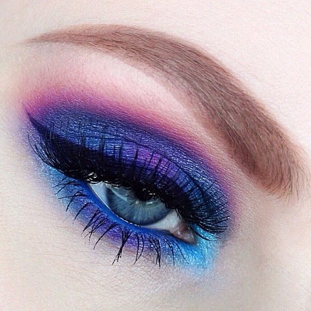 Blue and pink #eye #makeup by nicola_kate
