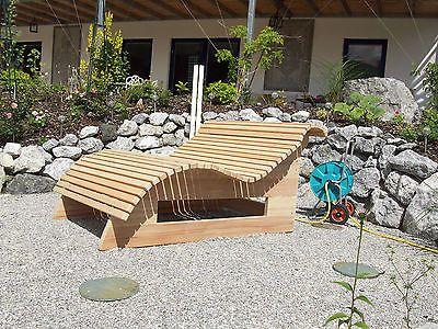 Relaxliege Wellnessliege Holzliege Gartenmobel Entspannung