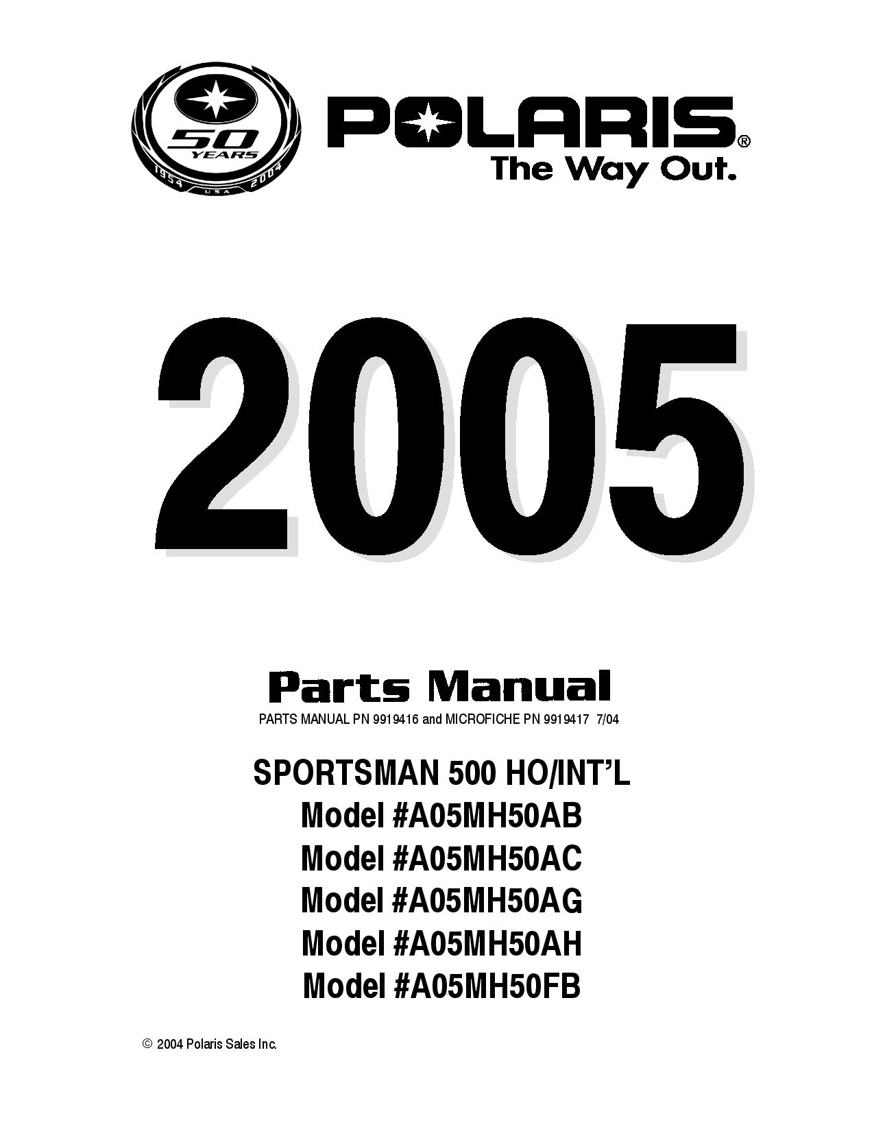 Polaris Sportsman 500 Parts List Download