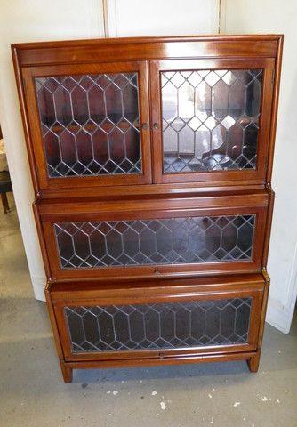 Vintage Mahogany Globe Wernicke Style Stacking Bookcase 1930 - 1950 er – Ipplepen Interiors