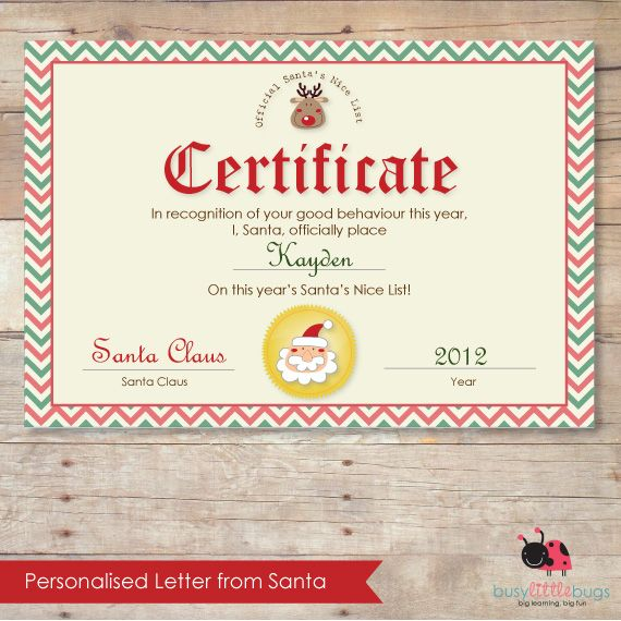 Personalised letter from santa kit from busy little bugs kids personalised letter from santa kit from busy little bugs spiritdancerdesigns Images
