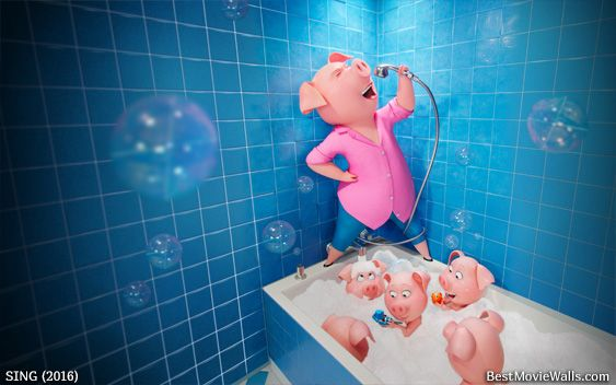 #Rosita From #SING Singing In The Bathroom In This Hd