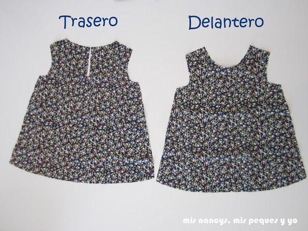 44cebde42 Tutorial Blusa sin mangas para niña (con patrón talla 4 y 6 incluido ...