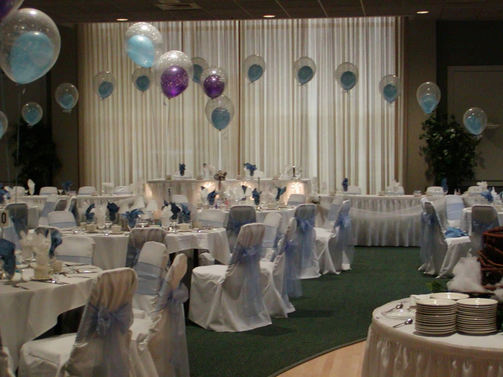 50th wedding anniversary decorations ideas included for Wedding hall decoration photos