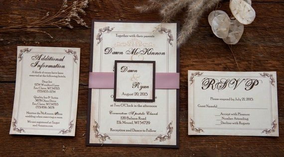 Photo of Rustic Wedding Invitation, Barn Wedding Invitation, Country …