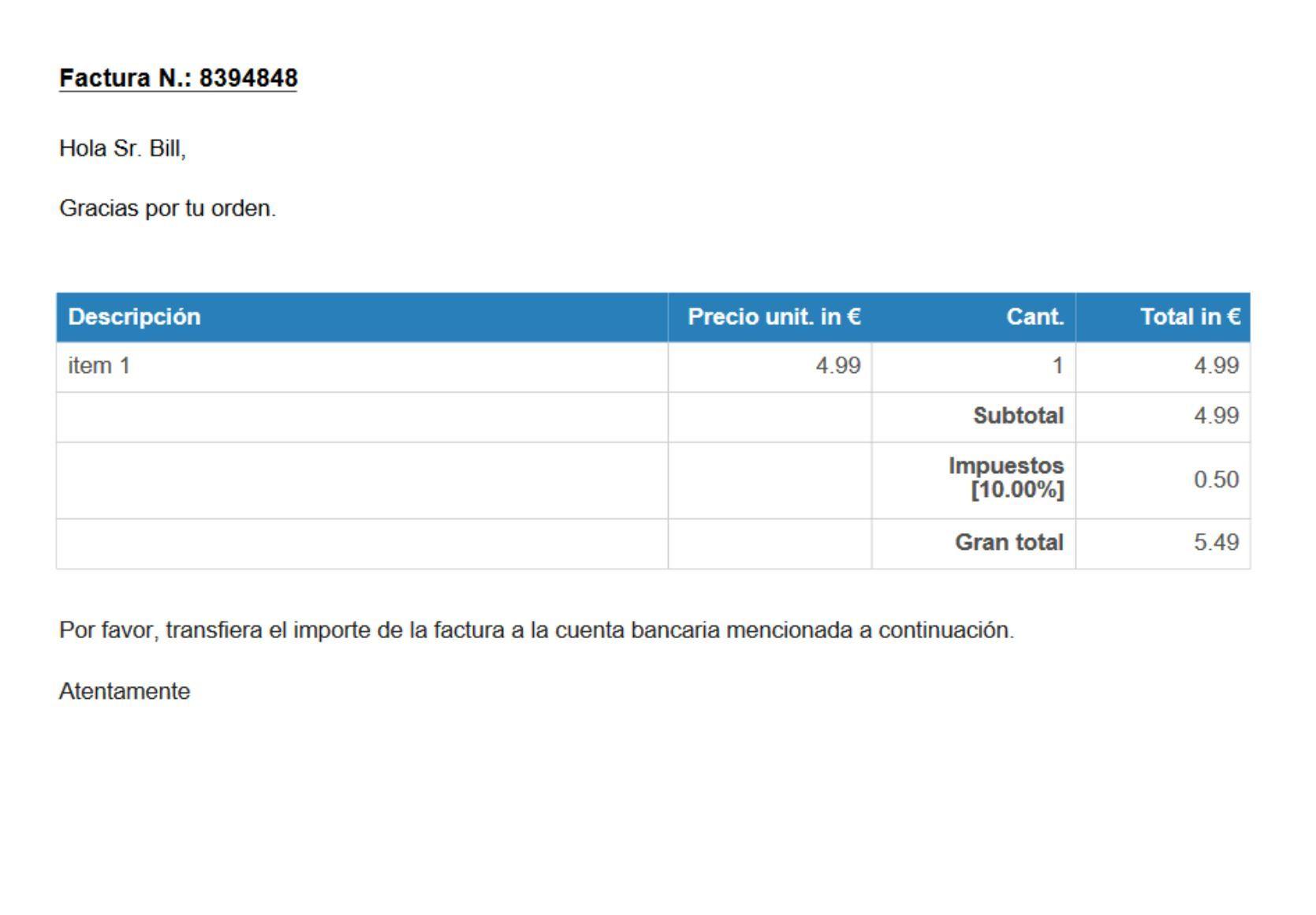 factura modelo creado con http receiptmaker org es invoice html