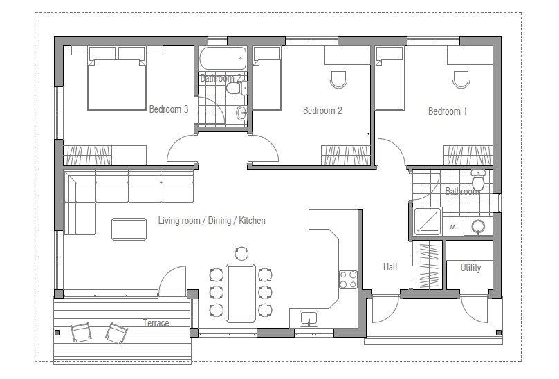 Small House Ch63 Small House Plans House Plans Cottage Floor Plans