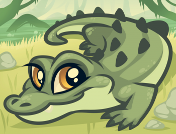 How to Draw a Baby Alligator, Alligator Baby, Step by Step