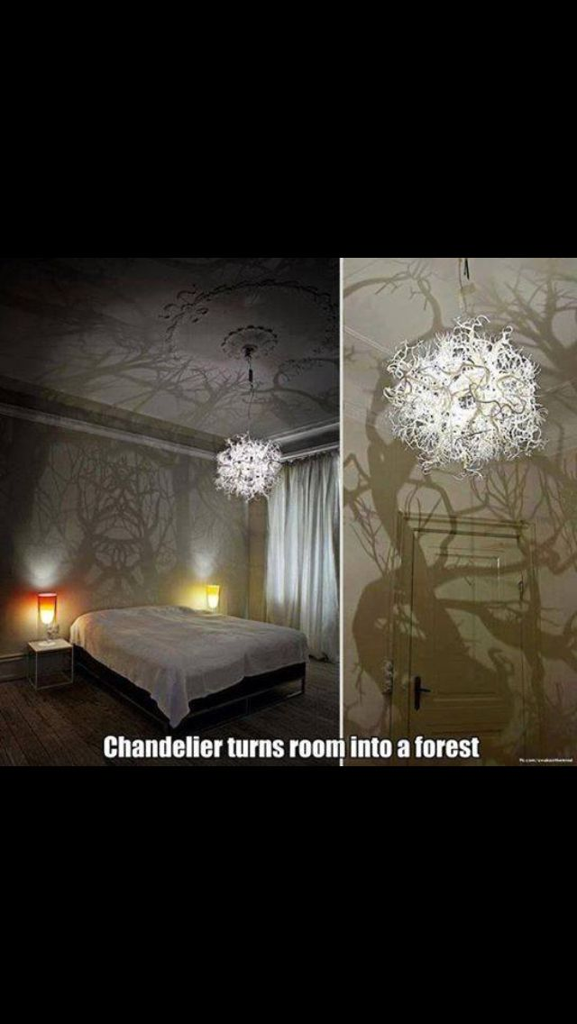 .Chandelier that turns you bedroom into an enchanted forest.