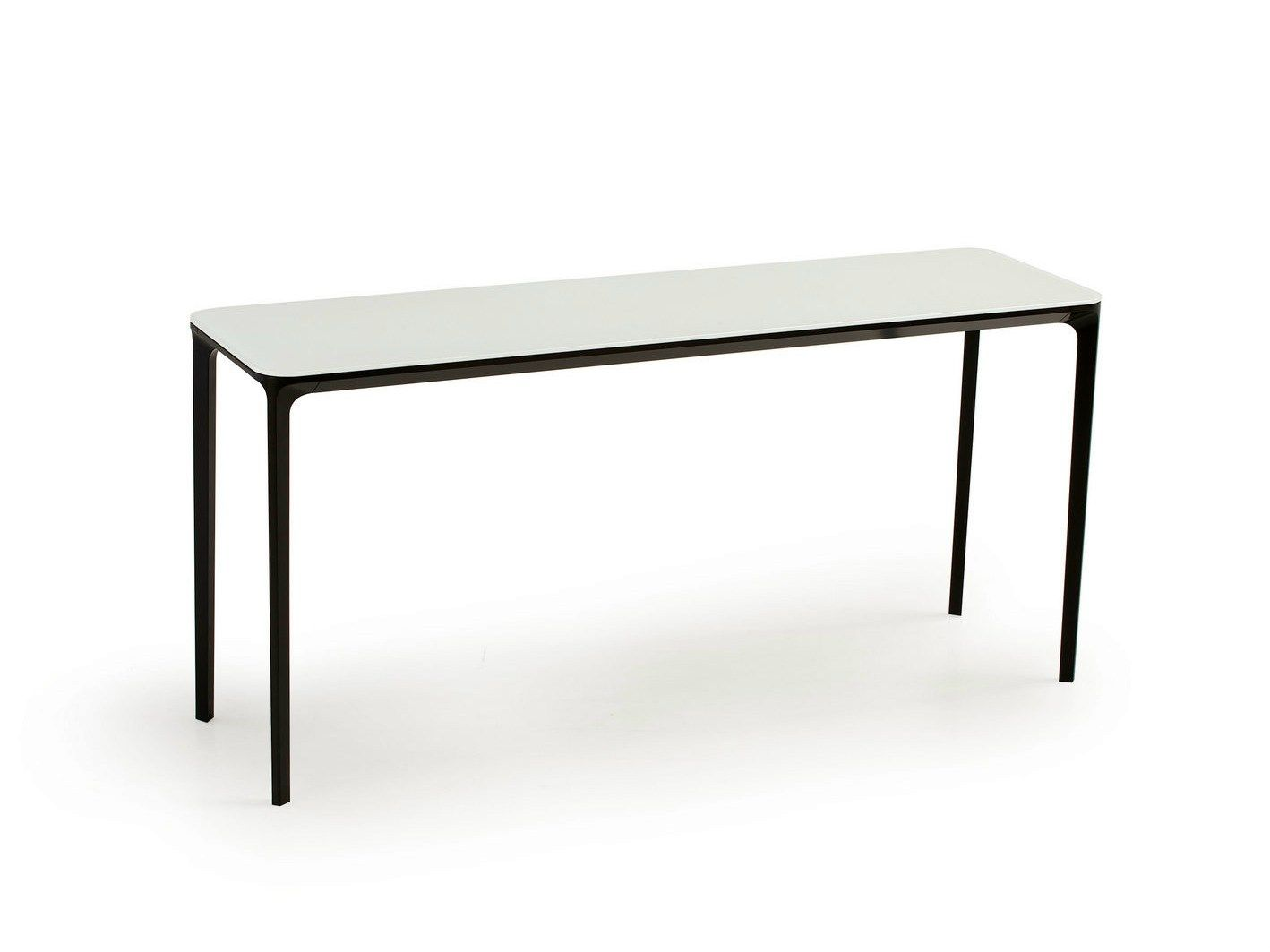 Rectangular Console Table SLIM 8 WITH 4 LEGS By SOVET ITALIA Design  Matthias Demacker