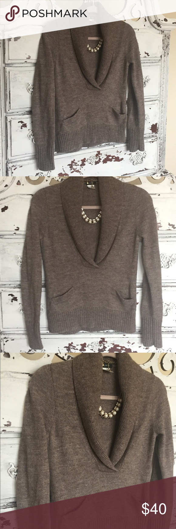 J. Crew pretty heather brown sweater So pretty! Excellent ...