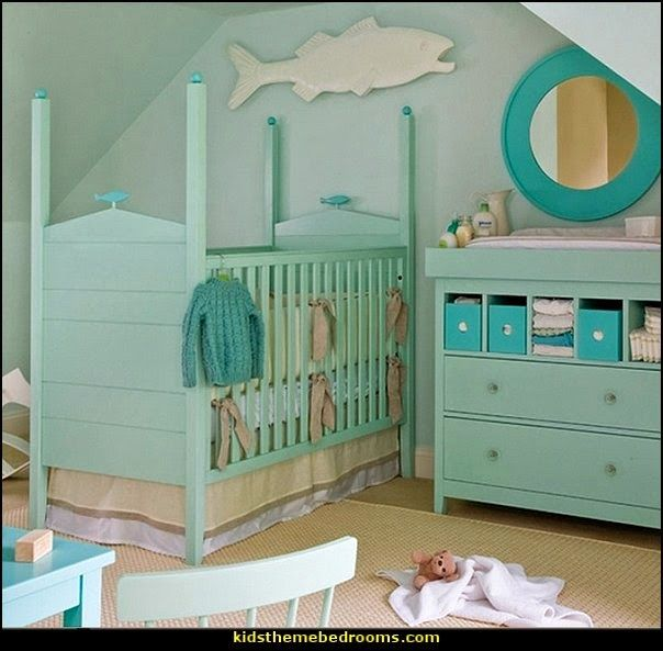 Need To Do This With My Old Dresser The Top Drawer Turned Into Shelves Baskets Beach Cottage Nursery Love Color Replace Crib Bed For Twins