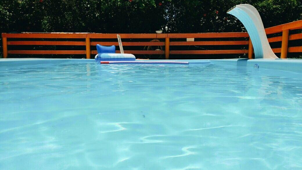 Pool day, swimming time