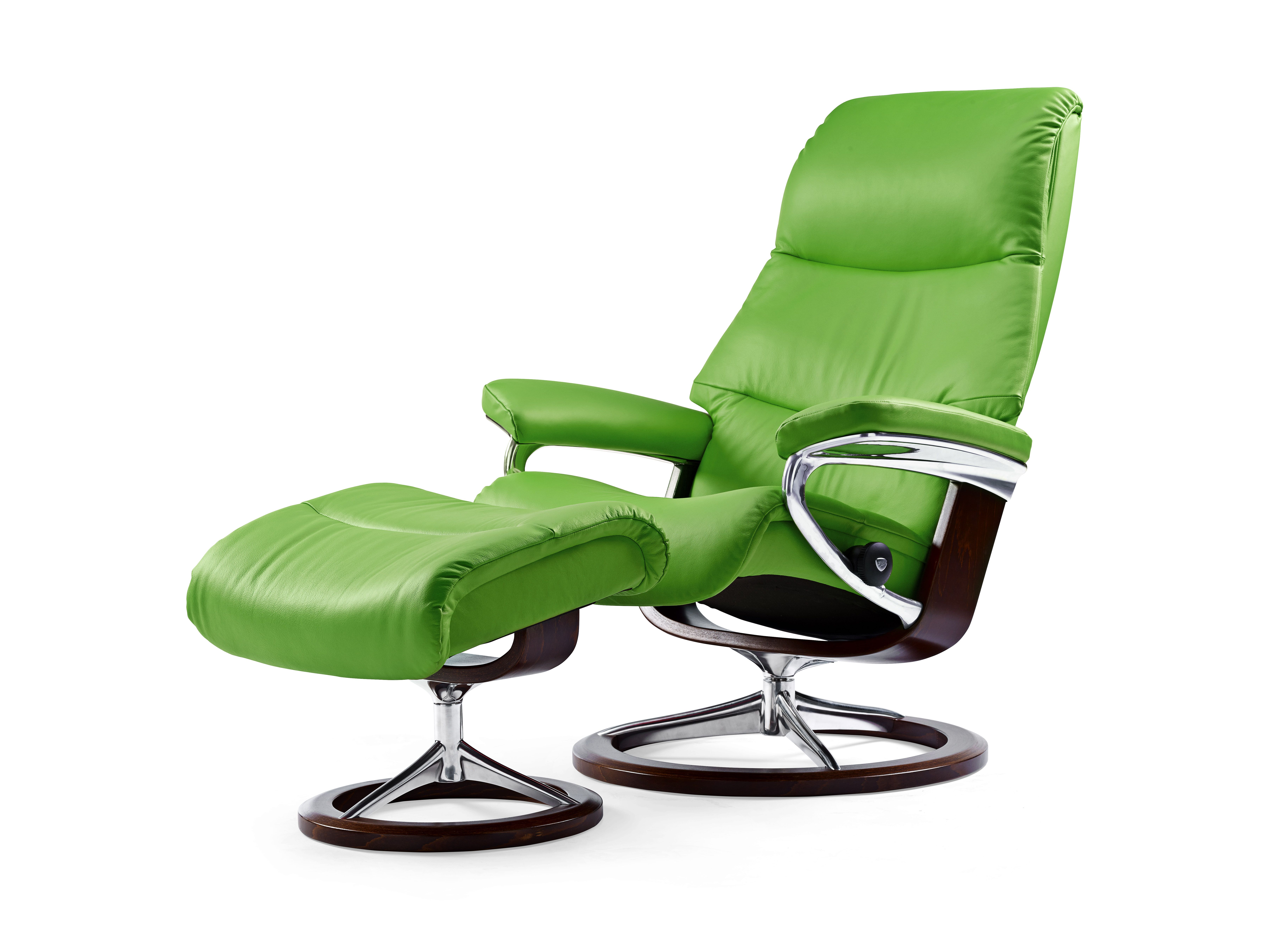 stressless view relaxsessel inkl hocker in der ausf hrung leder 39 paloma 39 summer green holz. Black Bedroom Furniture Sets. Home Design Ideas