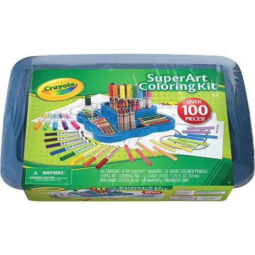 Crayola Super Art Coloring Kit Blue Crayola Color Kit Crayola Toys