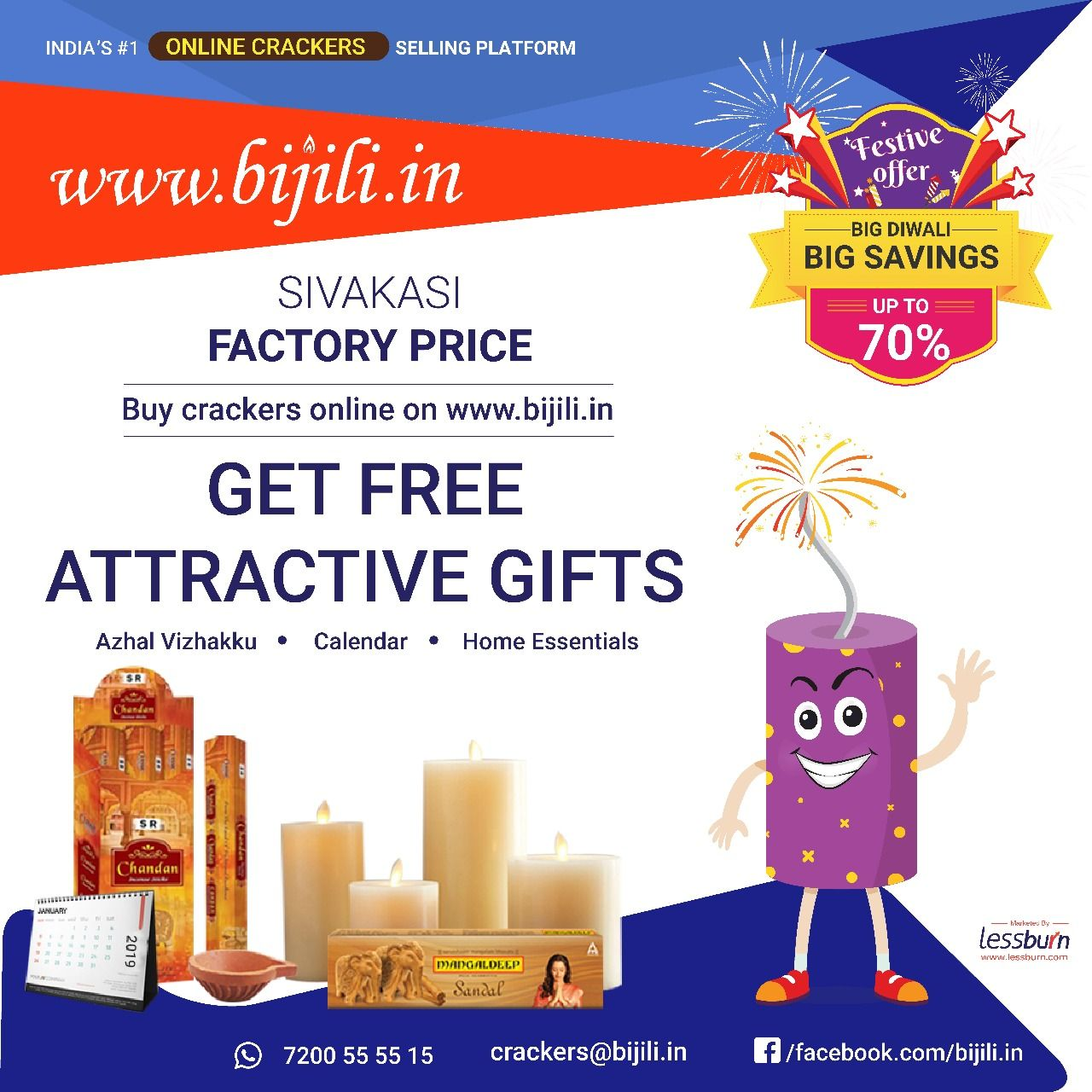Buy Diwali Crackers Online Shopping at factory price in