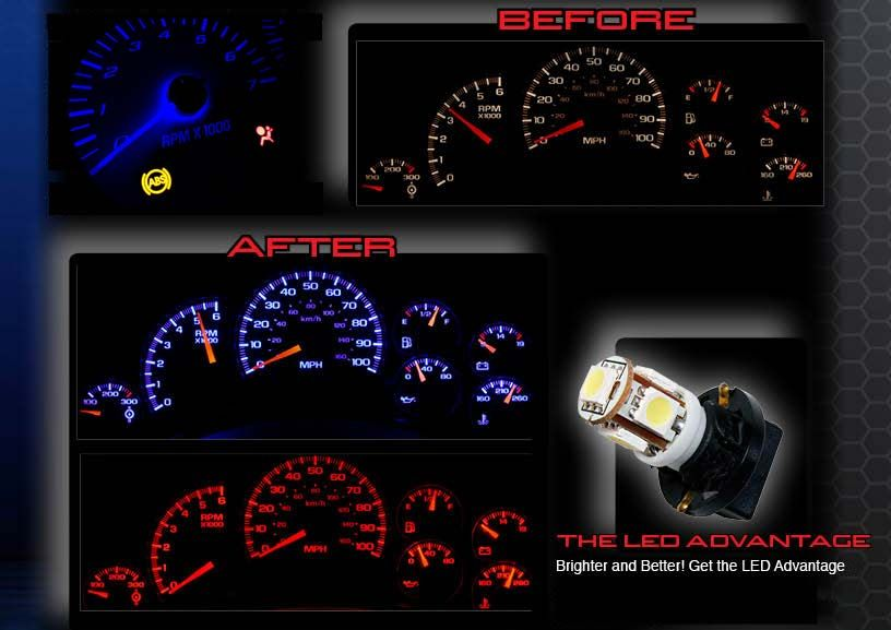 Led Light Upgrade For Factory Speedometer And Gauge Cluster Chevy Gauge Cluster Chevy Silverado
