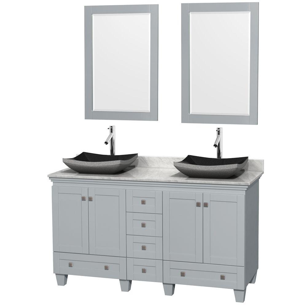 Wyndham Wcv800060doycmgs1m24 Acclaim 60 Double Bathroom Vanity