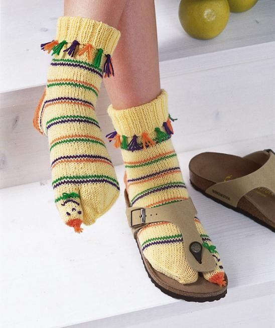 Sandal Socks for children in Regia 4-ply pattern | Nožky v teple ...
