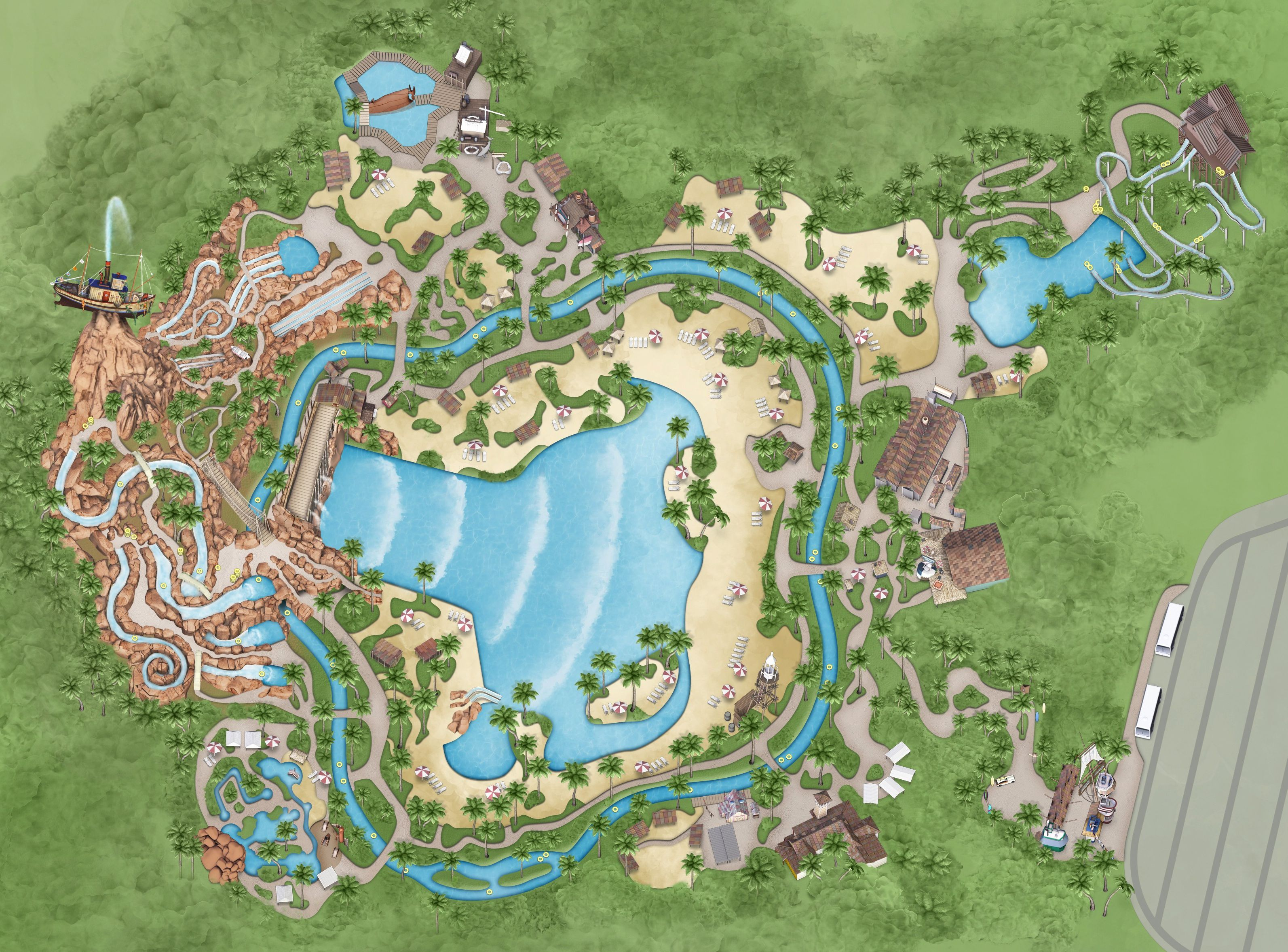 Walt Disney World Disney s Typhoon Lagoon Water Park Park Map