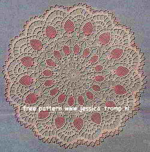 Pineapple Centerpiece doily free vintage crochet doilies ...