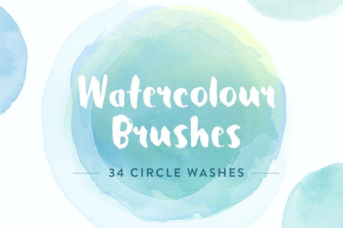 Watercolor Circles Photoshop Brushes Watercolor Circles