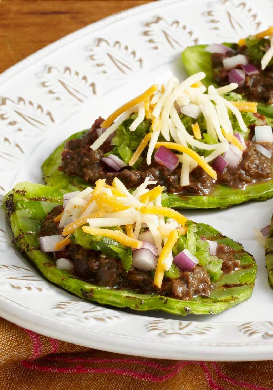 Grilled Nopales Cactus Huaraches  Cocina mexicana
