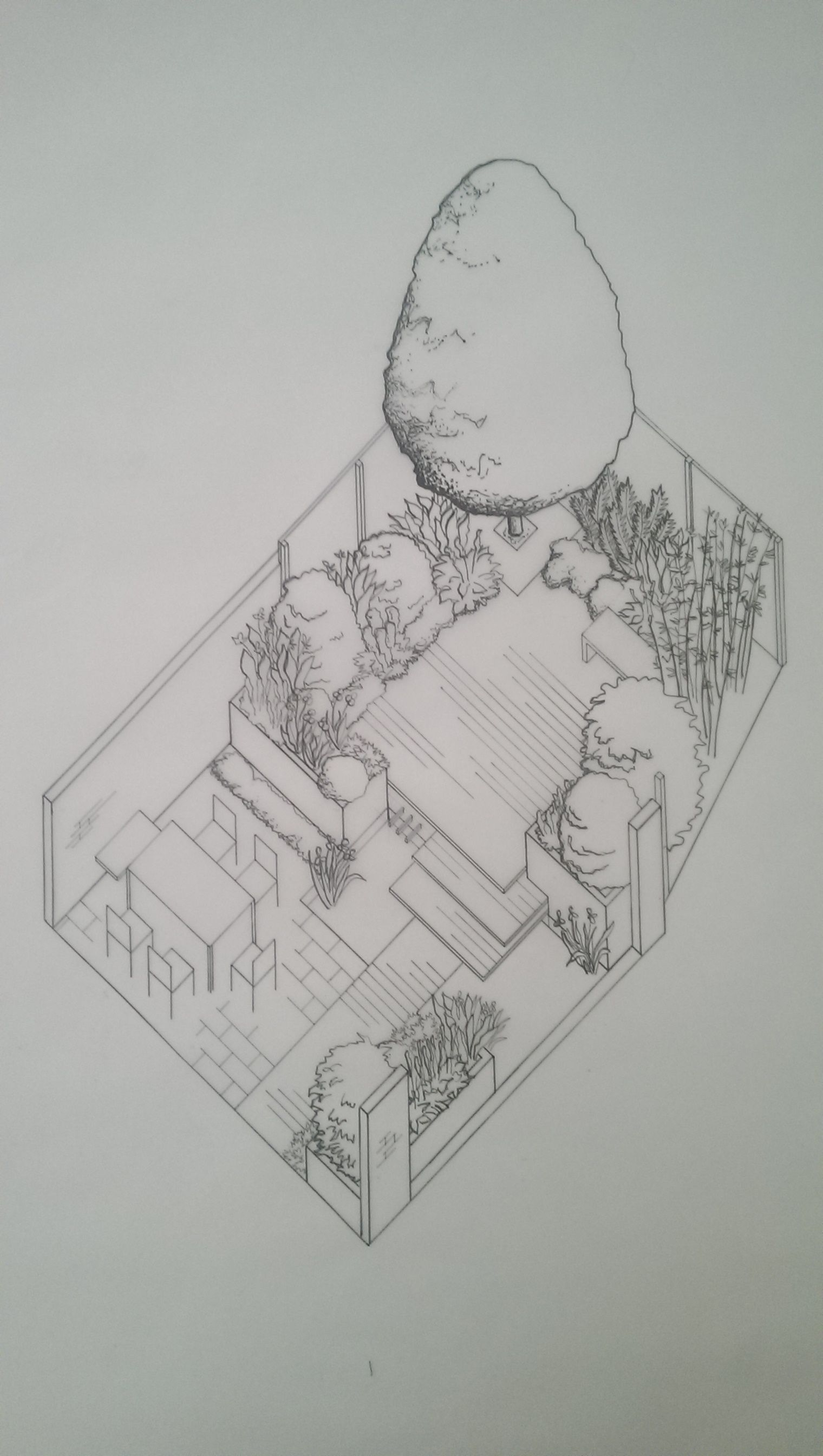 Axonometric Drawing of a Small Town Garden - Perfect way ...