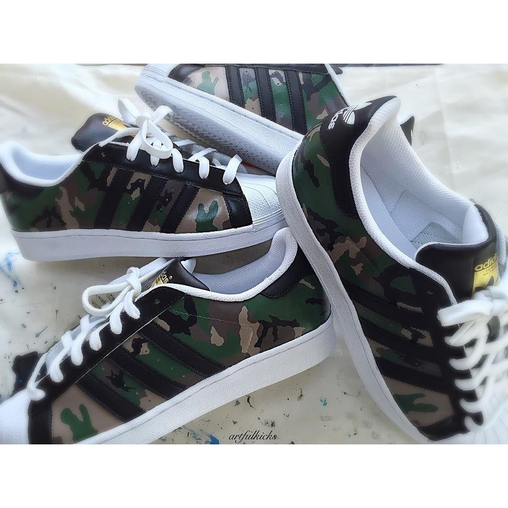 "Borrar población más  Fashionablecrew on Instagram: ""These Adidas 'Military 2.0' Superstars by  @artfulkicks are flying out, popular … | Adidas superstar, Adidas, Adidas  superstar sneaker"