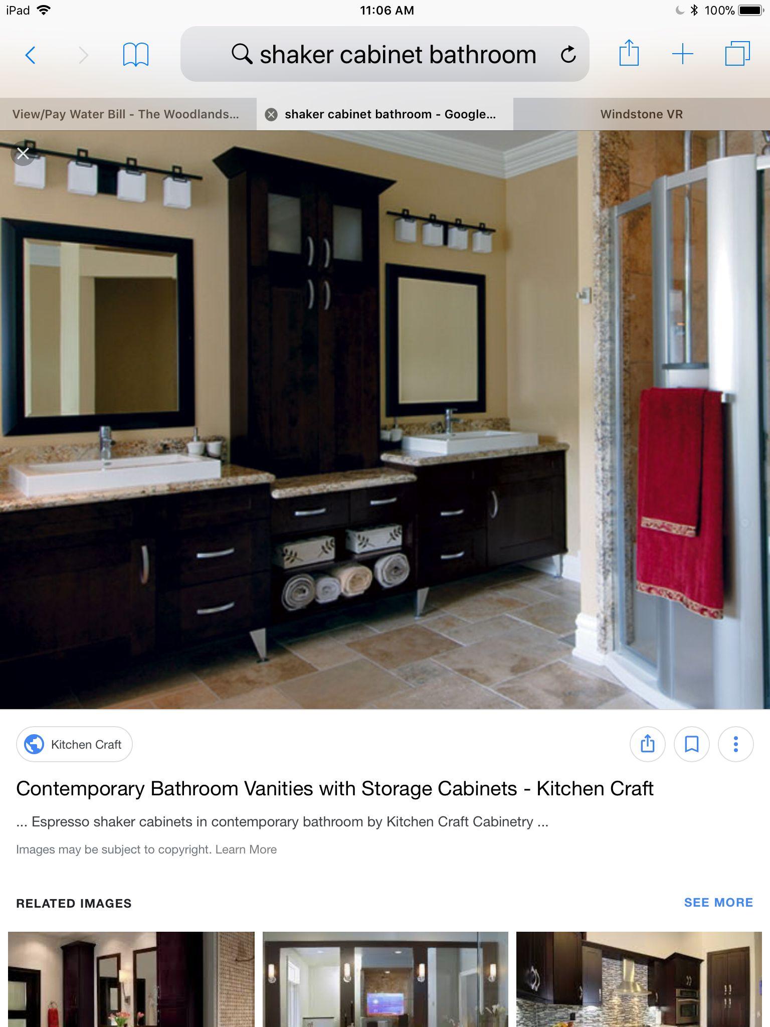 example of espresso shaker bathroom cabinet the california house rh pinterest com shaker bathroom cabinets uk shaker bathroom wall cabinet