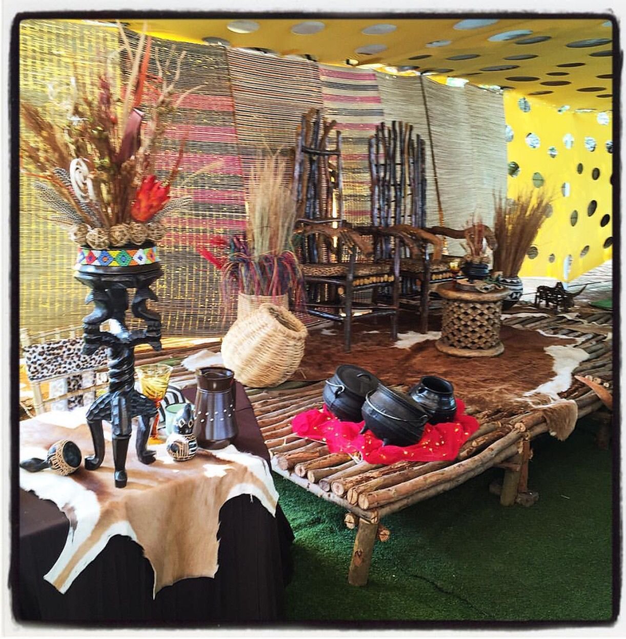 Traditional African Wedding Decor Zulu Ideas Centerpieces Luxurious Animal