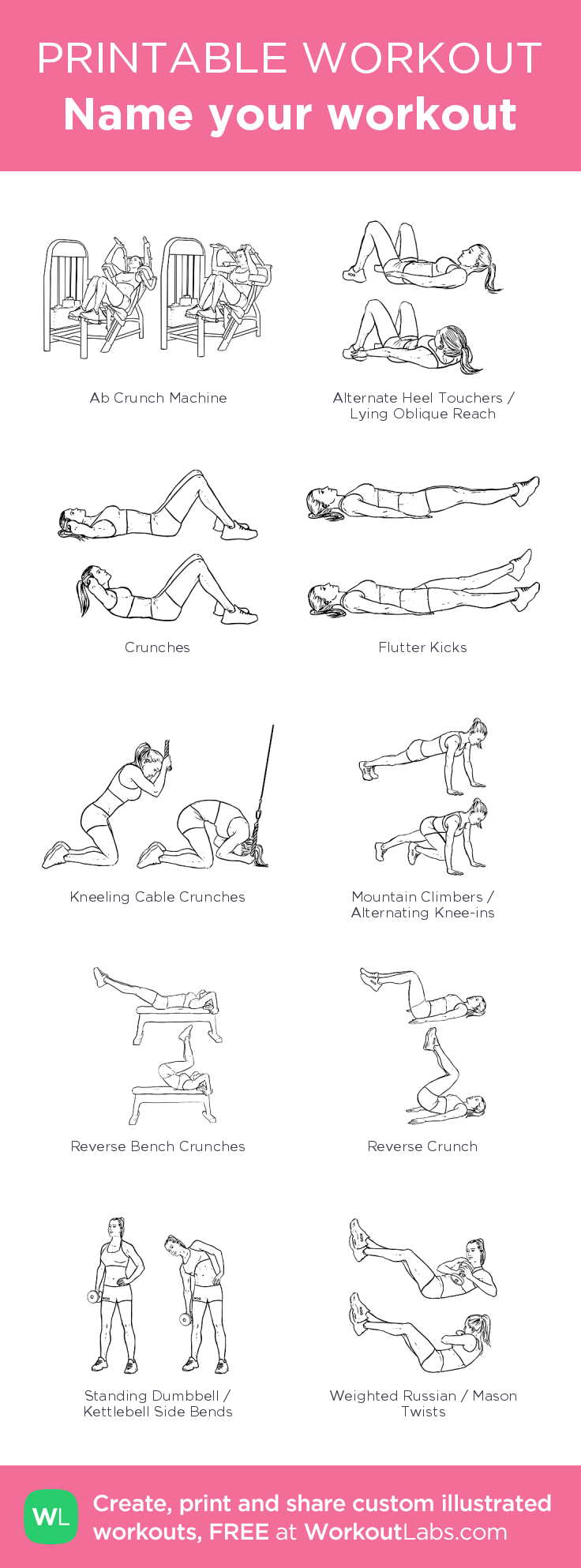 Name your workout – illustrated exercise plan created at ...