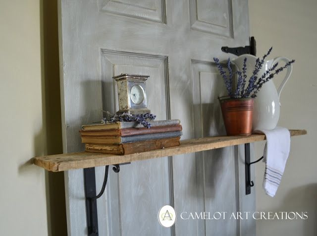 Camelot Art Creations: Interior Door Turned Decorative Shelf { DIY }