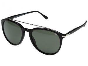 Persol 0PO3159S (Black/Polarized Green) Fashion Sunglasses