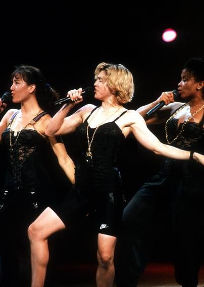 Madonna, rehearsing Express Yourself, 1989, for the MTV ...