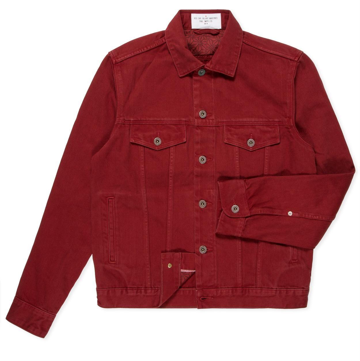Paul Smith Men's Jackets | Red Selvedge Slub Denim Jacket | Must ...
