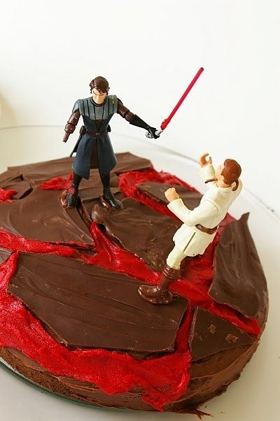 While I Love The Idea Of This Cake That Is Definitely Phantom Menace Obi And Not Revenge Of The Sit Star Wars Cake Star Wars Birthday Party Star Wars Party