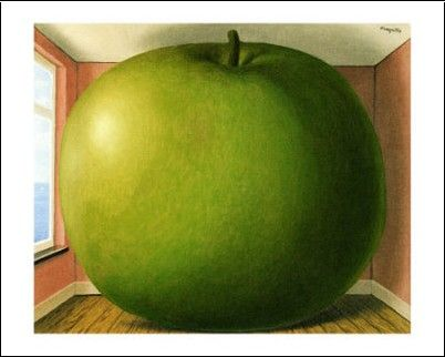 Une Pomme Aux Dimensions De La Piece La Chambre D Ecoute De Magritte Magritte Peintures Magritte Rene Magritte