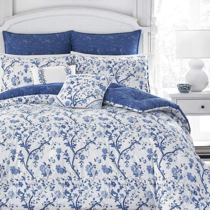 Laura Ashley Elise Cotton Duvet Cover Set By Home Comforter Sets