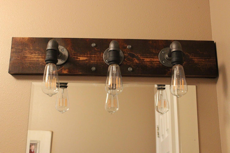 Diy Industrial Bathroom Light Fixtures Industrialbathroom
