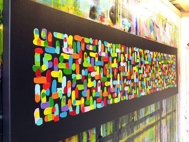 Künstler: Micha GRÖßE: 200 x 50 x 4 cm TECHNIK: Acryl auf Leinwand ...