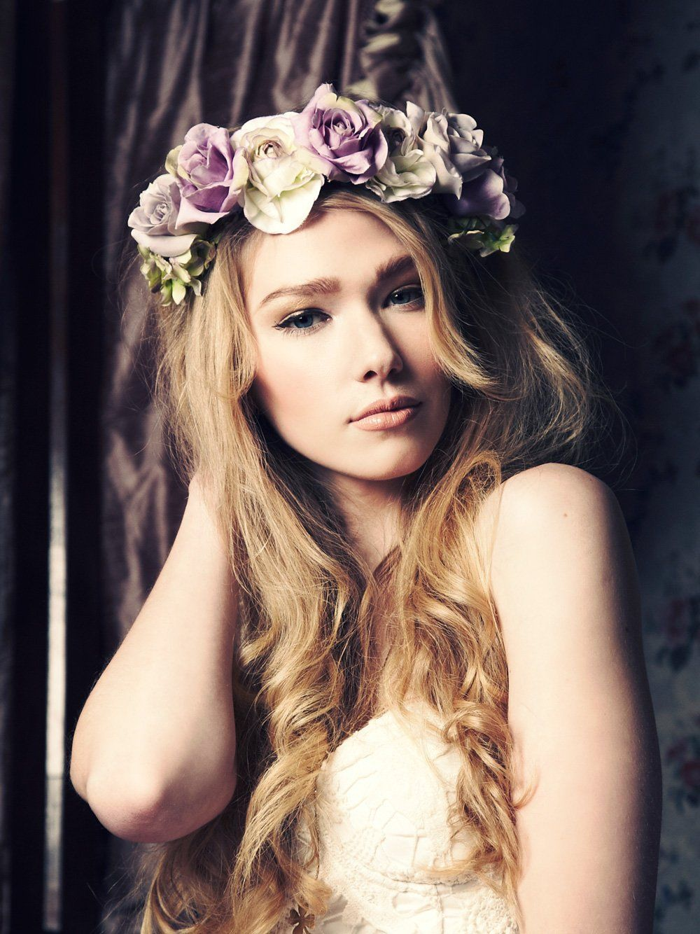 Lana oversized floral crown headband my style pinterest crown lana oversized floral crown headband izmirmasajfo Images