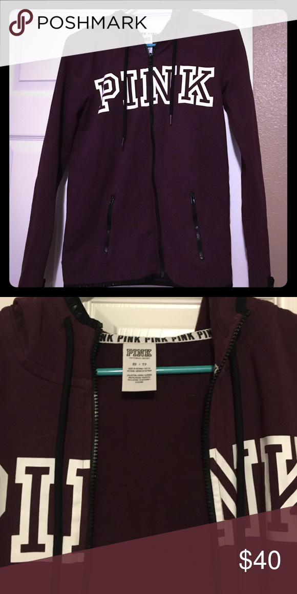 Vs pink jacket In great condition vs pink jacket size xs PINK Victoria's Secret Jackets & Coats