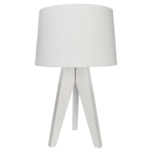 Buy tripod table lamp white linen from our table lamps range buy tripod table lamp white linen from our table lamps range tesco mozeypictures Gallery